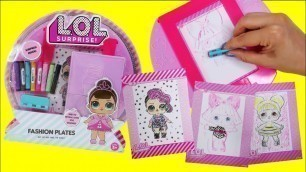 'LOL Surprise Fashion Plate Draw and Color LOL Doll DIY Craft Activity Set'