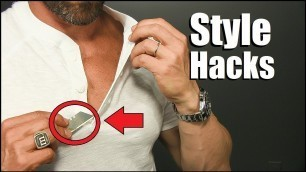 '6 Simple Style Hacks EVERY Guy Should Try To Look BETTER!'