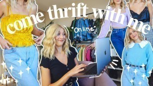 'come thrift with me for spring 2021 fashion trends | a very colorful SPRING try on thrift haul'