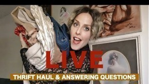 'LIVE// THRIFT HAUL & EXCITING INSTAGRAM GIVEAWAY'