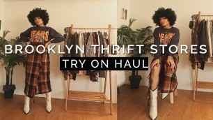 'WHERE TO THRIFT IN BROOKLYN? Try On Haul || WINTER FASHION'