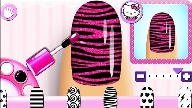 'Fun Learn Colors with Nail Salon Hello Kitty Style | Funny Color Game'