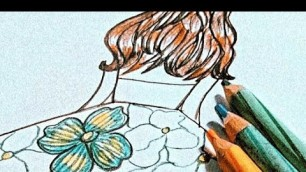 'How to draw floral print #fashionillustration #shorts'