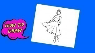 'How to draw Fashion sketches for beginners | Fashion teaching'