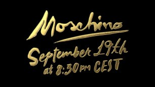 'Don\'t miss the next Moschino fashion show!'