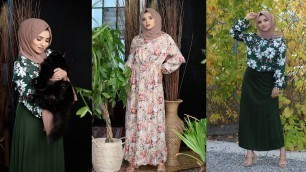 'HOW TO STYLE DRESSES AND SKIRTS TOGETHER  Modanisa Haul   Try on   MODEST FASHION'