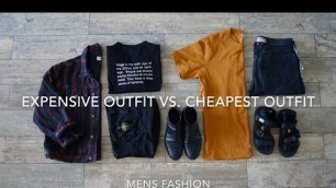 'Most Expensive Outfit Vs. Cheapest Outfit   Mens Fashion'